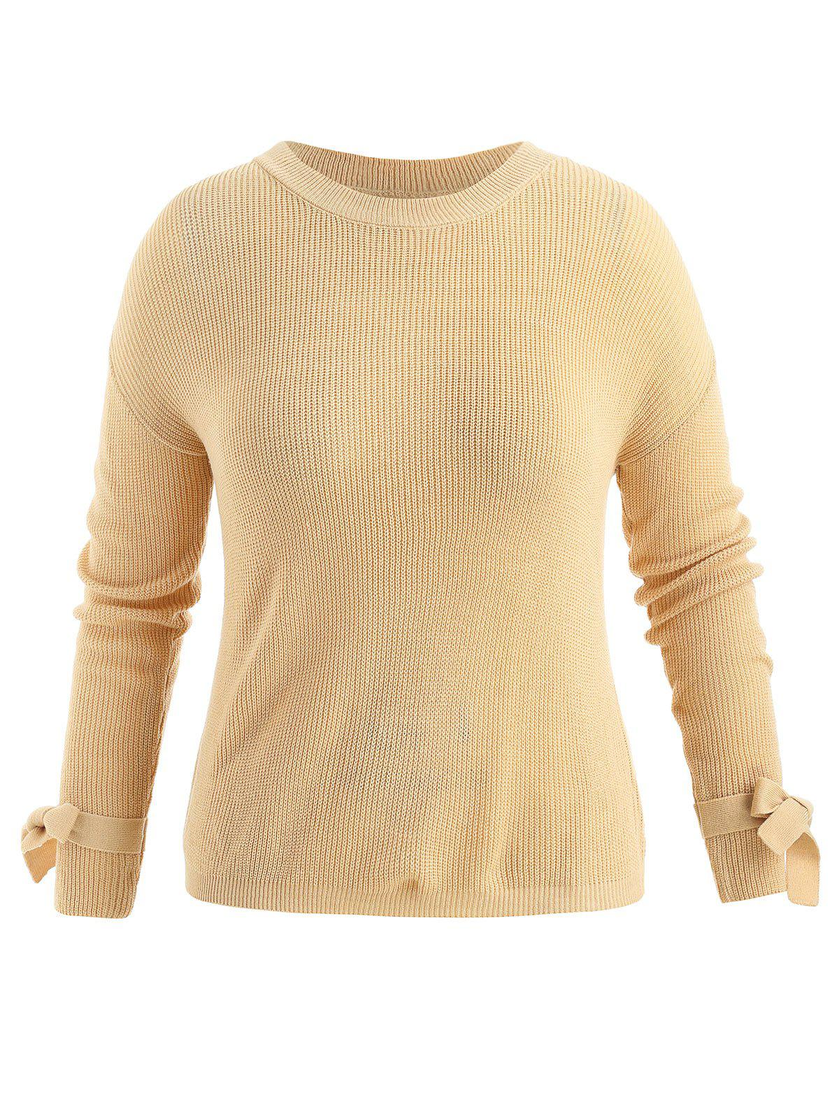 Best Plus Size Tie Sleeve Sweater