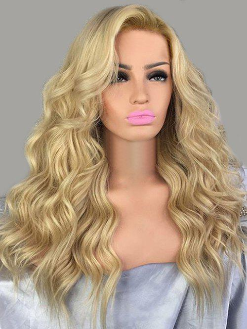 New Long Inclined Bang Wavy Synthetic Wig
