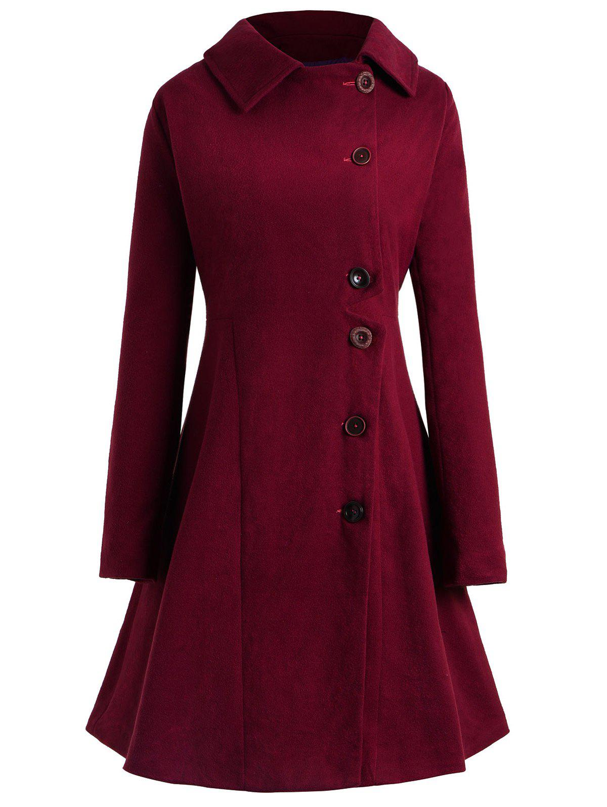 Hot Plus Size Hooded Flare Coat