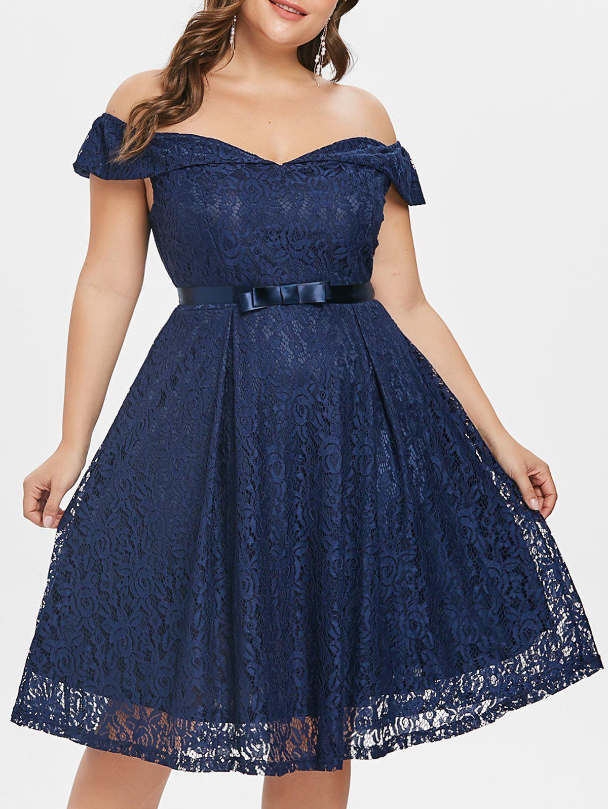 Off the Shoulder Vintage Dress