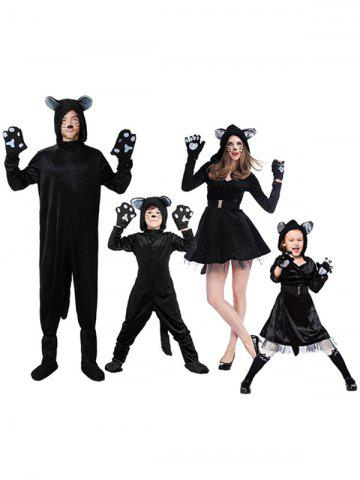 Ensemble de costume de chien enfant parent d'Halloween