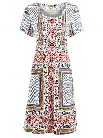 Paisley Print Bohemian Shift Dress
