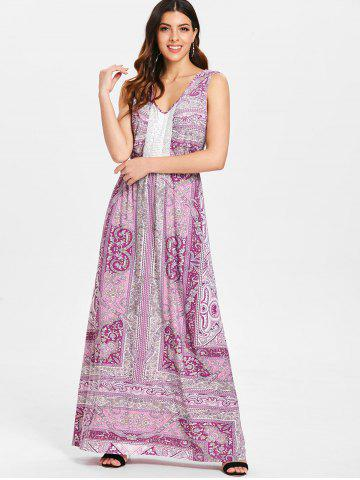 Sleeveless Bohemian Print Maxi Dress