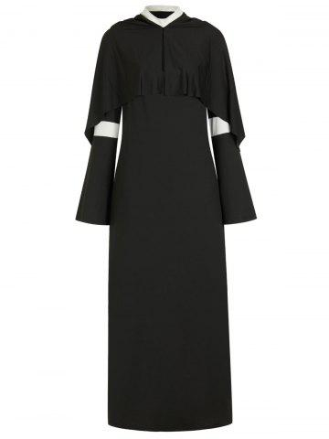Plus Size Halloween Cosplay Nun Costume Slit Dress