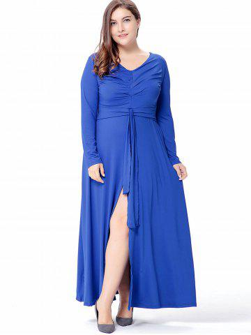 Plus Size V Neck Maxi Dress