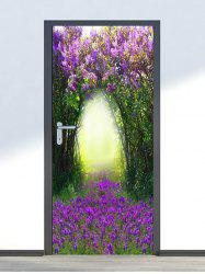 Floral Tree Hole Print Door Cover Stickers -
