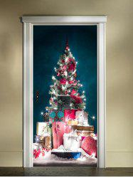 Christmas Tree Gifts Print Door Cover Stickers -