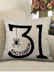 Halloween Date Spider Print Decorative Sofa Linen Pillowcase -