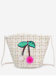 Cherry Pattern Going Out Bucket Bag -
