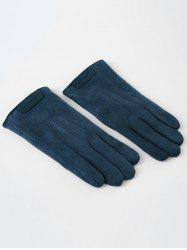 Winter Faux Suede Full Finger Gloves -