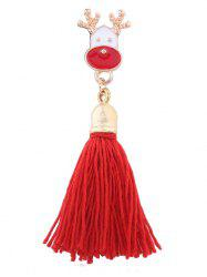 Christmas Elk Long Tassel Alloy Brooch -