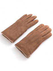 Vintage Full Finger Solid Color Warm Gloves -