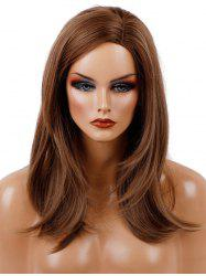 Long Side Parting Natural Straight Synthetic Wig -