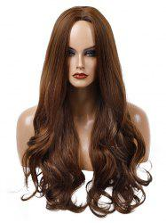 Long Center Parting Wavy Capless Synthetic Wig -