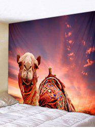 Wall Hanging Art Sunset Camel Print Tapestry -
