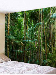 Wall Hanging Art Tropical Forest Print Tapestry -