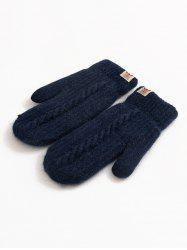 Winter Animal Label Knitted Mitten Gloves -