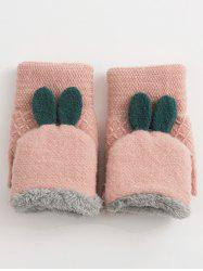 Winter Rabbit Ears Knitted Gloves -