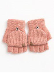 Winter Fingerless Flanging Knitted Gloves -