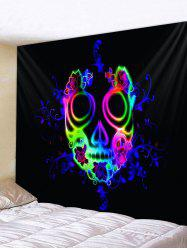 Wall Hanging Art Halloween Floral Ghost Print Tapestry -