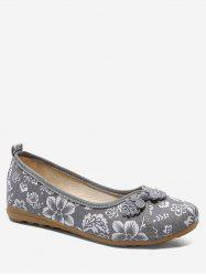 Retro Printed Low Top Flats -