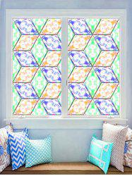 Geometric Print Decorative Glass Stickers -