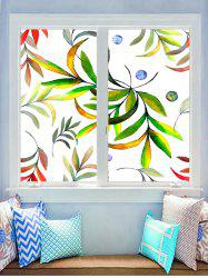 Leaf Print Decorative Glass Stickers -