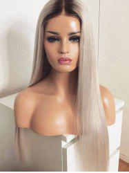 Long Colormix Straight Heat Resistant Synthetic Wig -
