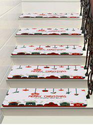 Merry Christmas Deer Deer Flocon Stairs Floor Rugs -