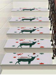Christmas Elk Snowflake Printed Stair Floor Rugs -