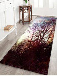 Tapis de bain décoratif en flanelle décorative Starry Sky Tree -