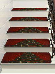 Christmas Tree Printed Stair Floor Rugs -