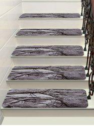 Christmas Snow Tree Printed Stair Floor Rugs -