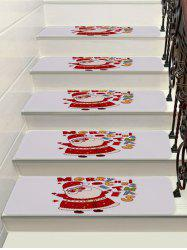 Father Christmas Printed Stair Floor Rugs -