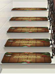 Merry Christmas Bells Print Tapis d'escalier -