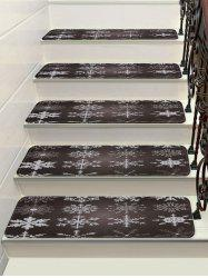 Christmas Snowflake Printed Stair Floor Rugs -