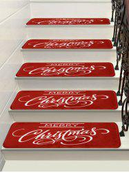 Merry Christmas Printed Stair Decor Floor Rugs -