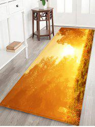Sunshine Printed Non-slip Decorative Flannel Bath Mat -