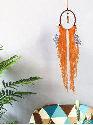 Handmade Faux Jade Fringed Feathers Dream Catcher -