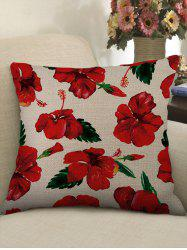Flowers Pattern Decorative Sofa Linen Pillowcase -