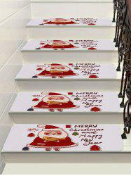 Cartoon Father Christmas Printed Stair Floor Rugs -