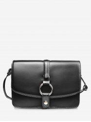 Mini Round Hole Embellished Crossbody Bag -