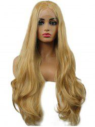 Long Center Parting Wavy Synthetic Lace Front Wig -