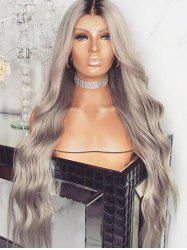 Long Middle Part Gradient Wavy Synthetic Wig -