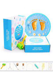 Baby Care Air Drying Soft Clay Handprint Footprint Imprint Tools -