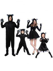 Ensemble de costume de chien enfant parent d'Halloween -