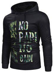 Camo Leter Print Casual Hoodie -