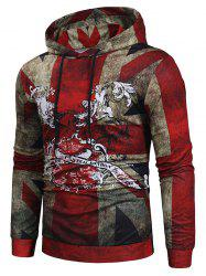 Retro Printed Casual Simple Hoodie -