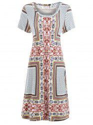 Paisley Print Bohemian Shift Dress -
