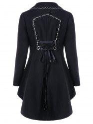 High Low Longline Coat with Lace Up -